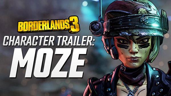 Llega el turno de conocer a la artillera Moze en un nuevo tráiler de Borderlands 3