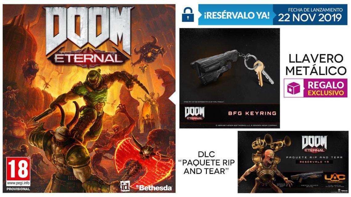 Reserva DOOM Eternal en GAME y consigue este exclusivo llavero