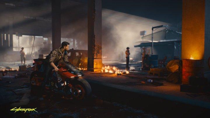 V y la motocicleta Yaiba Kusanagi protagonizan la nueva imagen de Cyberpunk 2077