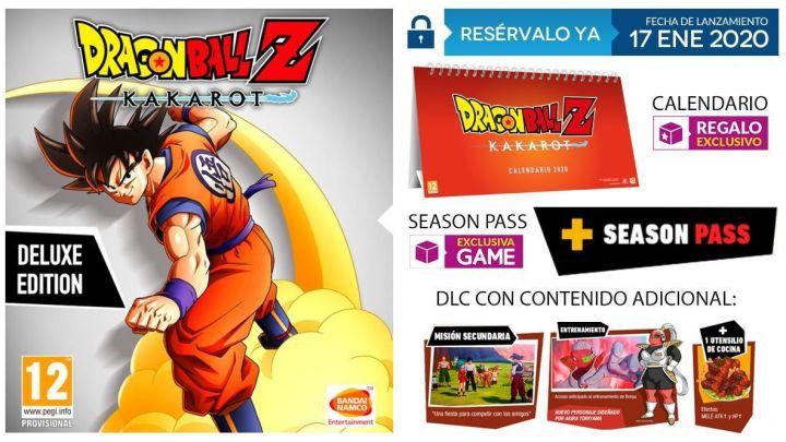 GAME anuncia los extras por reserva y edición exclusiva de Dragon Ball Z: Kakarot