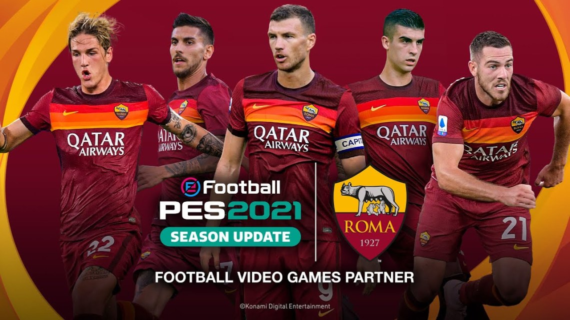 eFootball PES 2021 presenta un nuevo acuerdo exclusivo con AS Roma