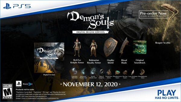 Revelados los contenidos de la edición Digital Deluxe del remake de Demon's Souls