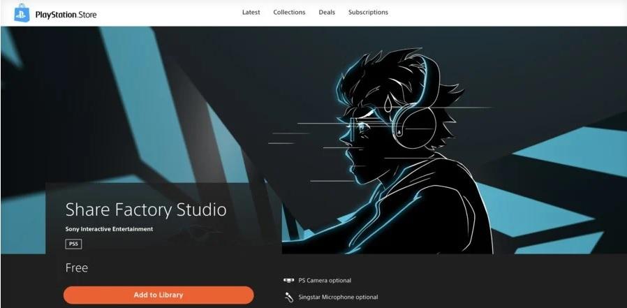 Share Factory Studio también estará disponible en PS5