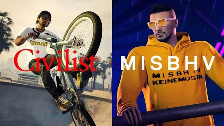Civilist y MISBHV, marcas de moda del mundo real en GTA Online