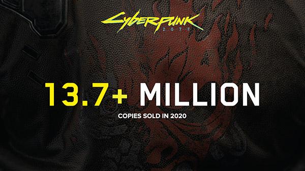 Cyberpunk 2077 supera los 13,7 millones de copias vendidas en 2020
