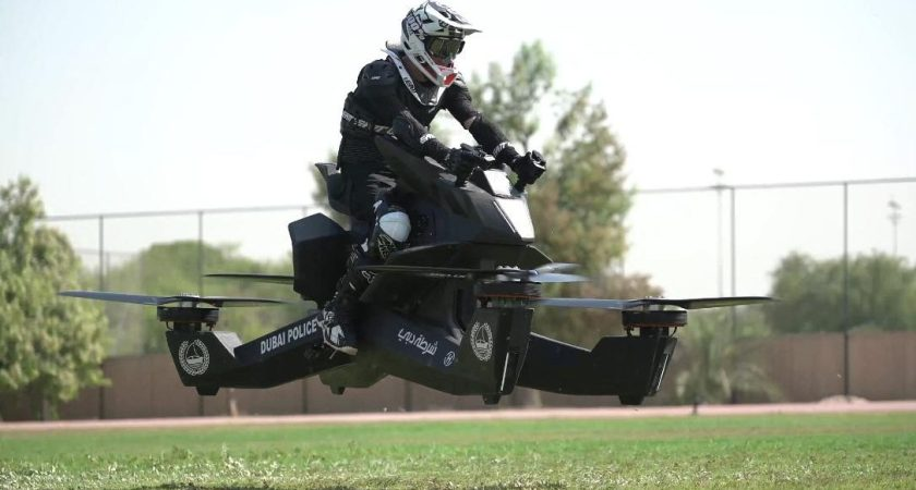 Dubai police is training its Officers to fly Hoverbikes.
