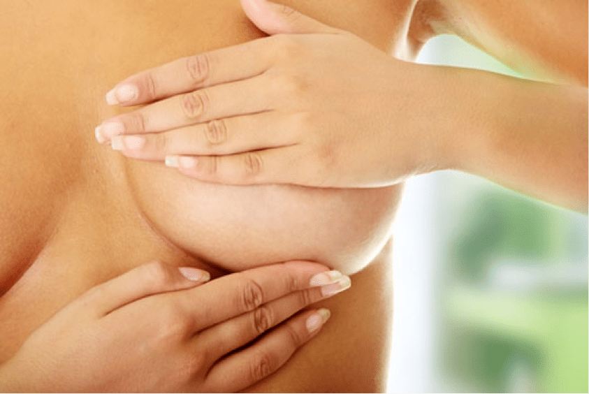 Massage therapy breast massages
