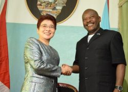Burundi's Head of State received the Chinese envoy for African Affairs.