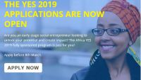 Africa Young Entrepreneurs Support (YES) 2019 now open