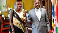 Natacha meets Burundi Head of the State Peter Nkurunziza