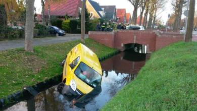 Photo of DHL-voertuig te water in Zuidoostbeemster