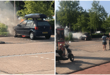 Photo of Auto spontaan in de brand Leeuwerikplein (video)