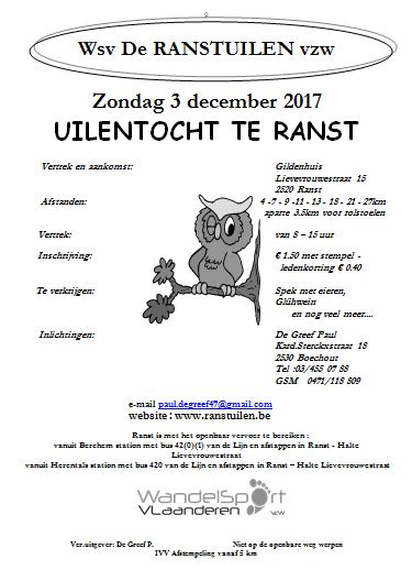 Uilentocht start in Gildenhuis