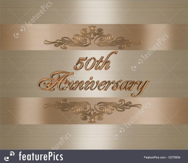 50Th Wedding Anniversary Invitations 50th Golden Wedding Anniversary Invitation Illustration