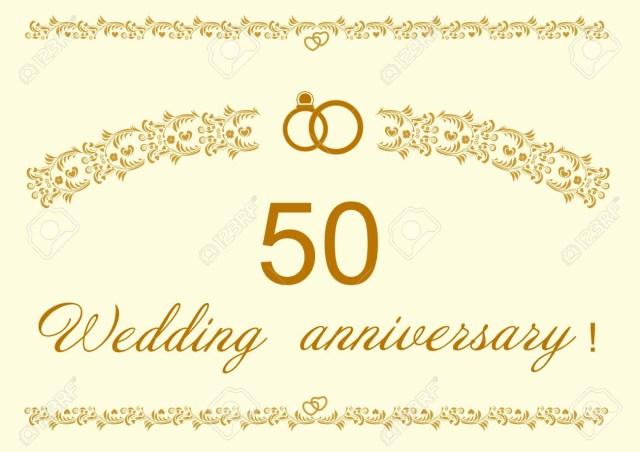 50Th Wedding Anniversary Invitations 50th Wedding Anniversary Invitation Card Design Royalty Free
