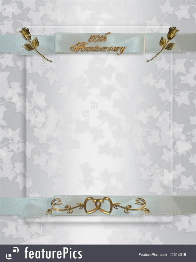 50Th Wedding Anniversary Invitations 50th Wedding Anniversary Invitation Illustration