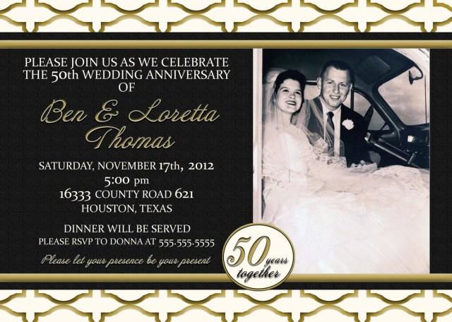 50Th Wedding Anniversary Invitations Fabulous Wedding Anniversary Invitations Wedding Ideas