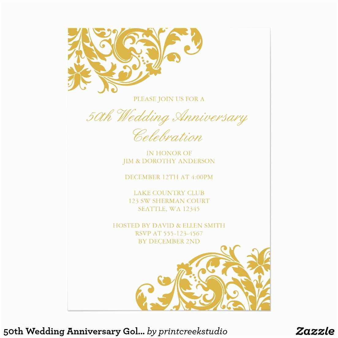 50Th Wedding Invitations 45 Vistaprint 50th Wedding Anniversary Invitations Nailartssravi