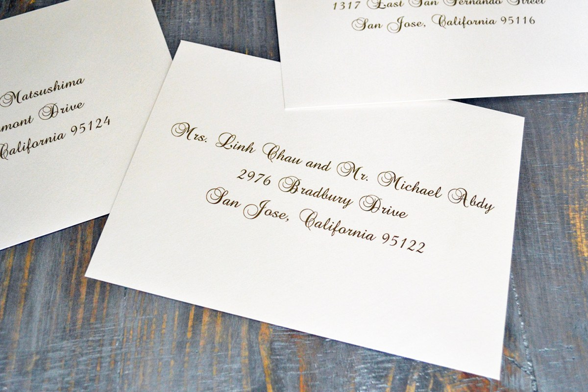 37+ Brilliant Picture of Addressing Wedding Invitations Outer Envelope Only