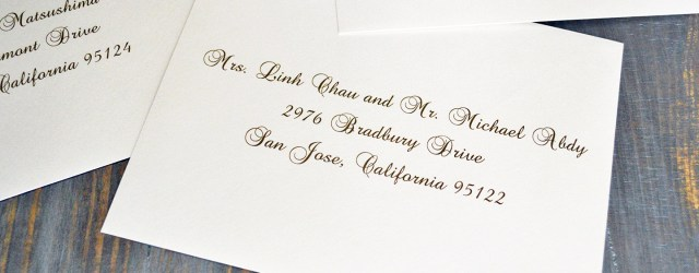 Addressing Wedding Invitations Outer Envelope Only How To Address Wedding Invitation Envelopes Paper Lace