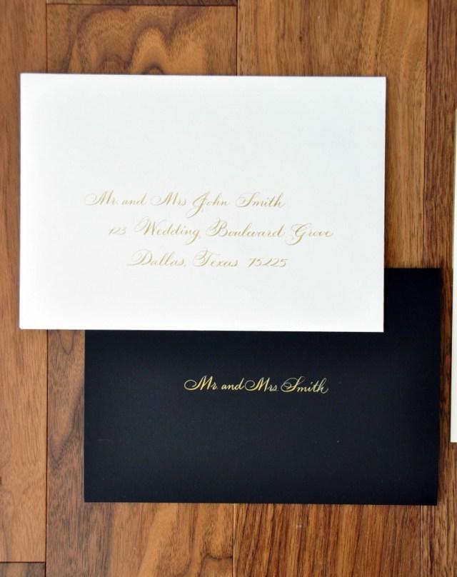Addressing Wedding Invitations Outer Envelope Only Wedding Calligrapher Inner Envelope Left Handed Calligrapher