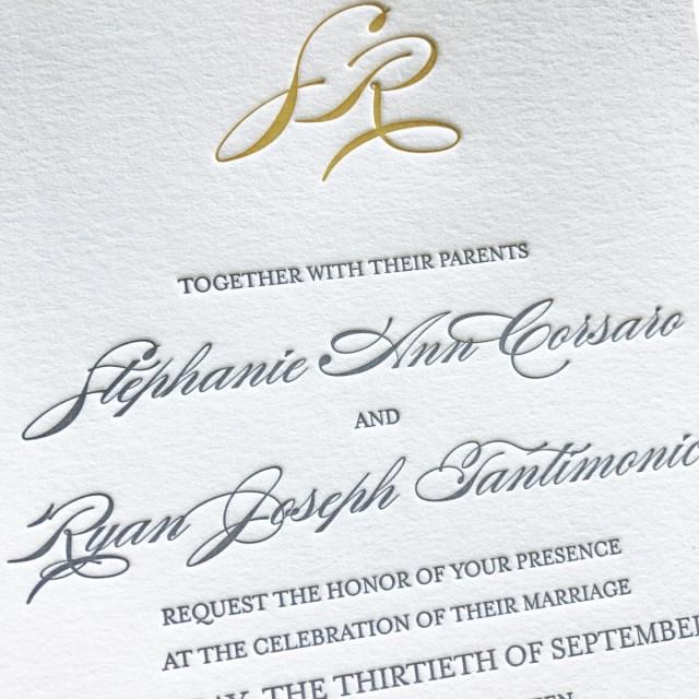 Affordable Letterpress Wedding Invitations Stephanie Ann Letterpress Wedding Invitations Mospens Studio