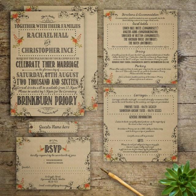 Antique Wedding Invitations Modern Vintage Wedding Invitation Gray Starling Designs