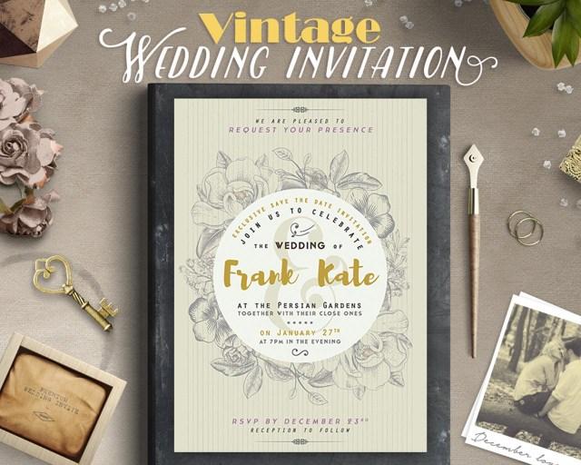 Antique Wedding Invitations Retro Vintage Style Wedding Invitation Design Lavie1blonde On