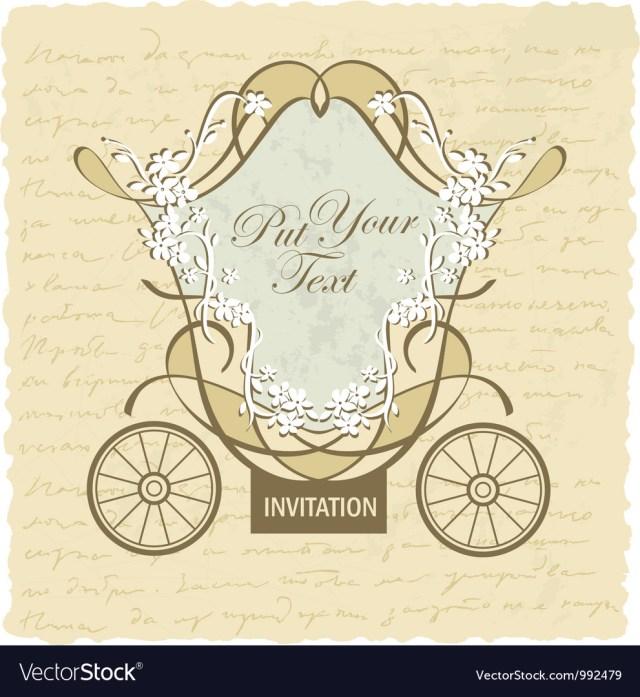 Antique Wedding Invitations Vintage Wedding Invitation Card Royalty Free Vector Image