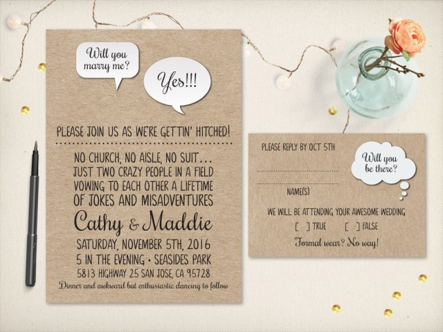Awesome Wedding Invitations 75 Fun Unique Wedding Invitations For Cool Couples Emmaline Bride