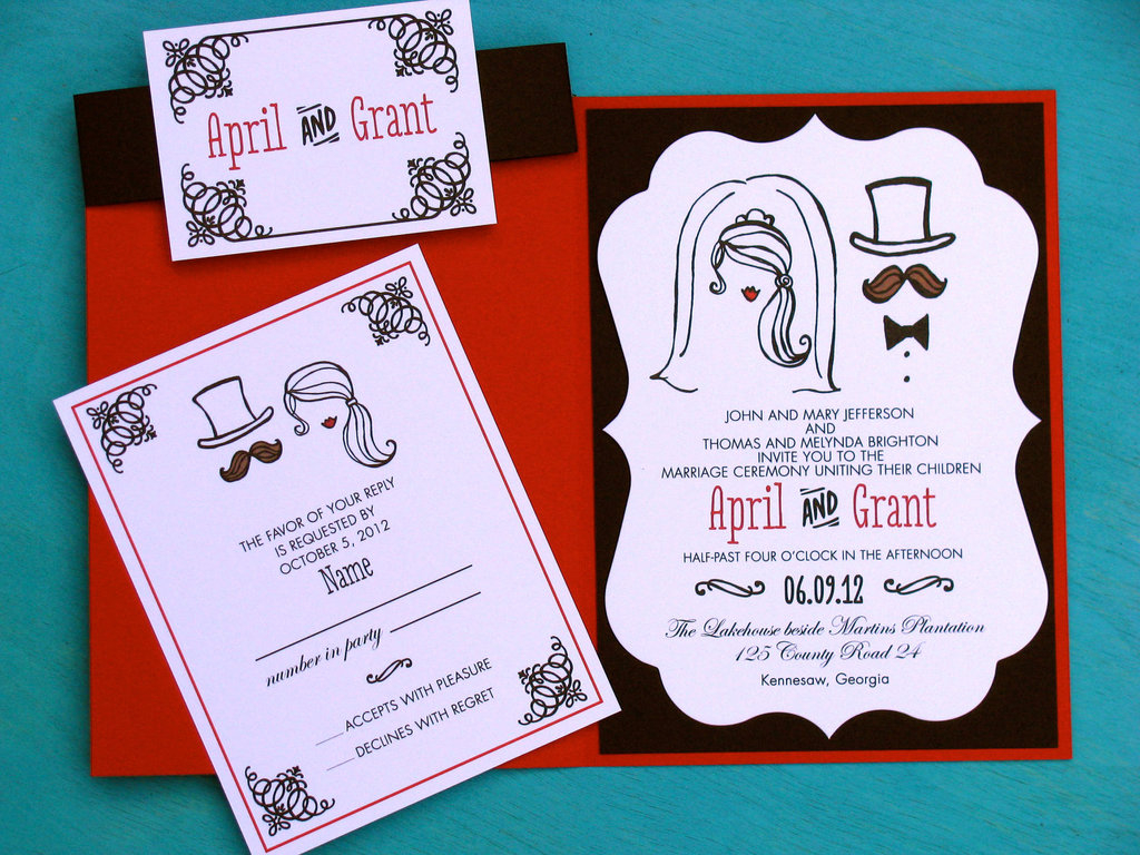 Awesome Wedding Invitations Fun Wedding Details For The Reception Mustache Theme Wedding Finds