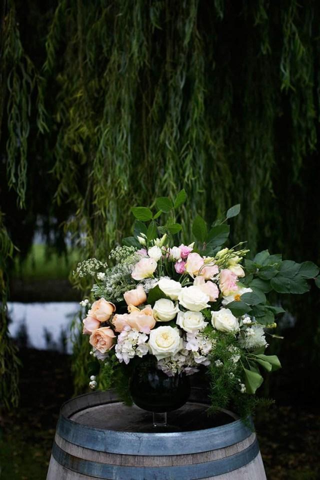 Barrell Wedding Decor Pretty Winery Wedding Ceremony Aisle Decor Flowers Wine Barrel The