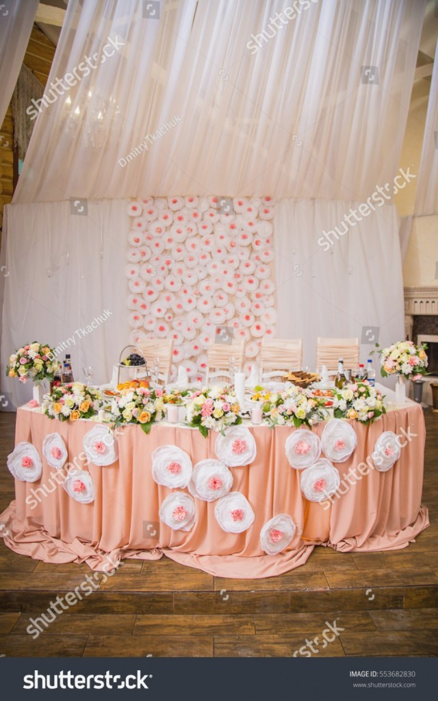 Beautiful Wedding Idea Beautiful Wedding Decorations Peach Color Fresh Stock Photo Royalty