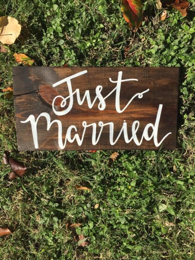 Boho Wedding Decor Just Married Sign Wedding Decorations Rustic Wedding Boho Wedding