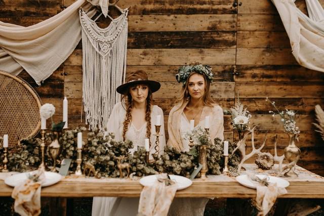 Boho Wedding Decor Nude Bohemian Wedding Inspiration With Dried Flowers Macrame