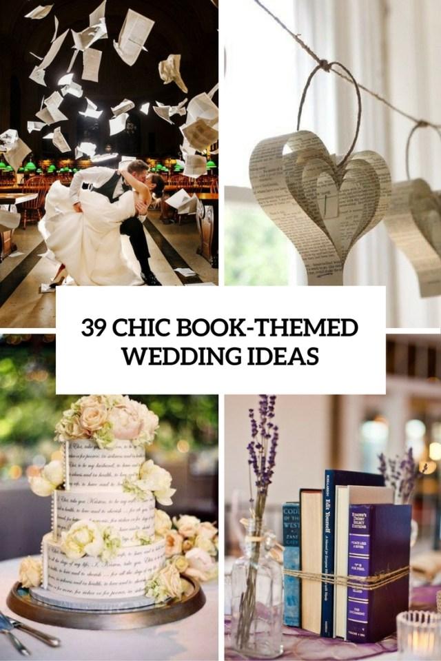 Books Wedding Decor 39 Chic Book Themed Wedding Ideas Weddingomania