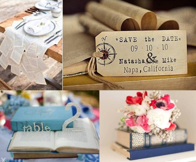 Books Wedding Decor Be Inspired Our Wedding Book Decor Weddings On The French