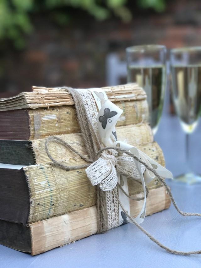 Books Wedding Decor Shab Chic Decor Rustic Decor Shelf Decor Book Shelf Decor