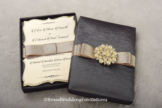 Box Wedding Invitations Wedding Invitation Box Invitation Box Couture Invitation Etsy