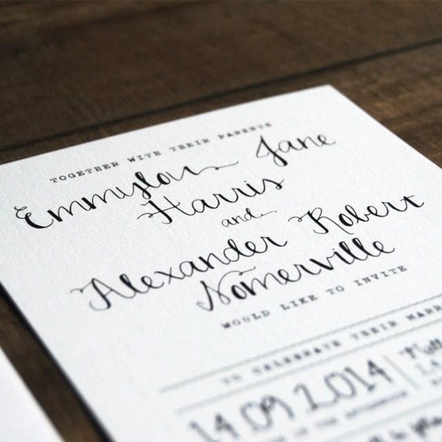 Calligraphy Wedding Invitations Calligraphy Wedding Invitation Stationery Feel Good Wedding