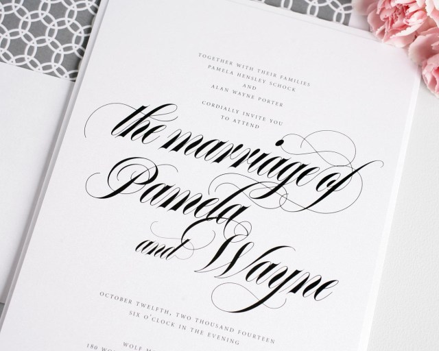 Calligraphy Wedding Invitations Wedding Invitation Calligraphy Wedding Invitation Calligraphy