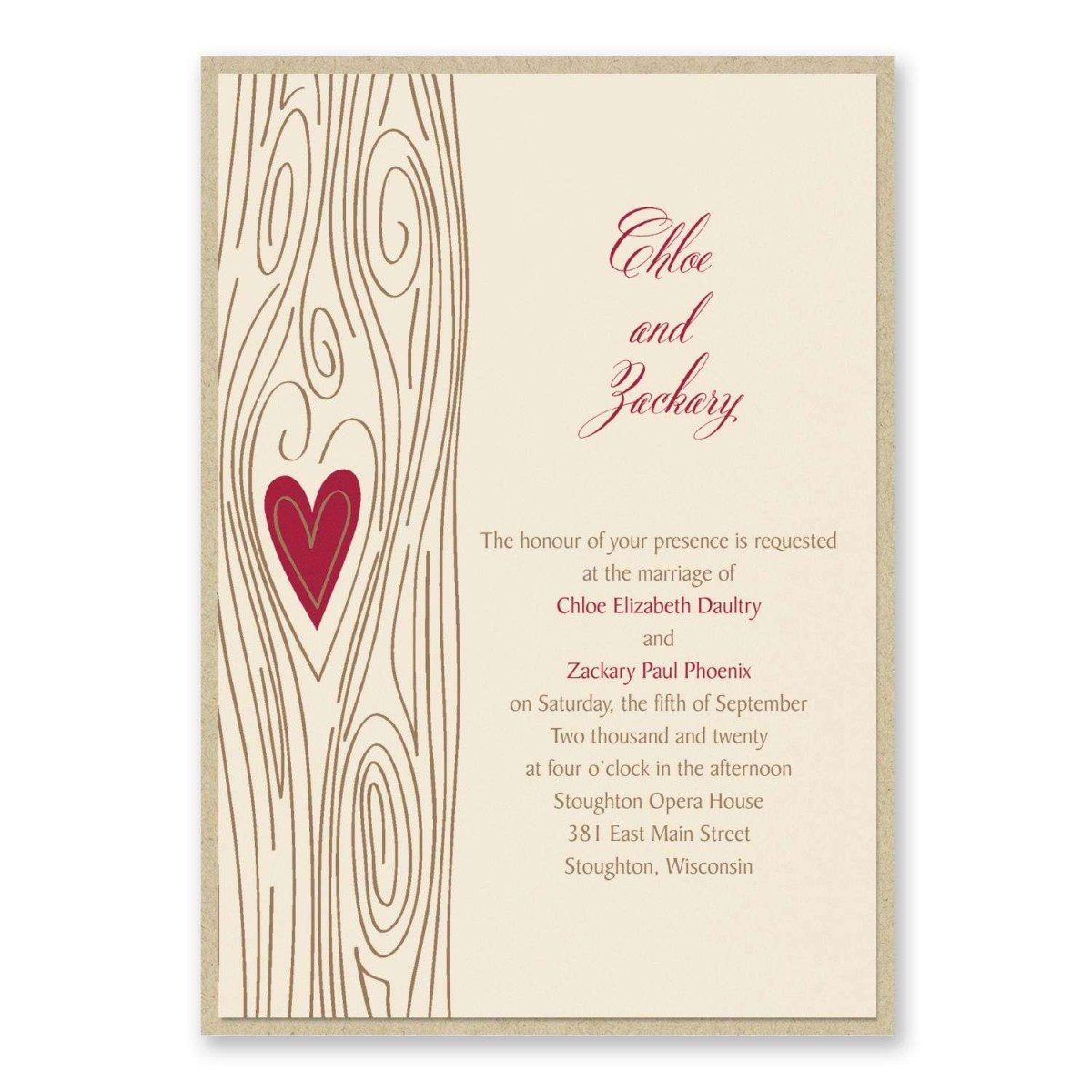 Carlson Wedding Invitations Carlson Craft Wedding Invitations Woodsy Romance Invitation With