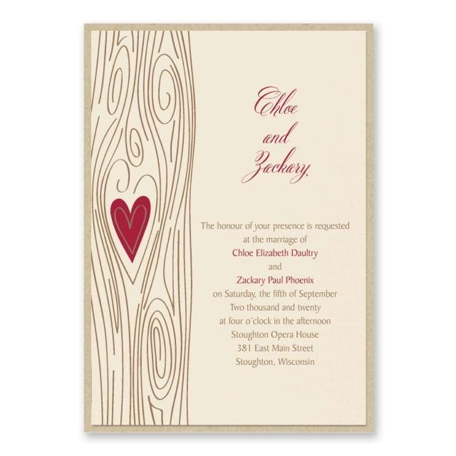 Carlson Wedding Invitations Carlson Craft Wedding Invitations Woodsy Romance Invitation With