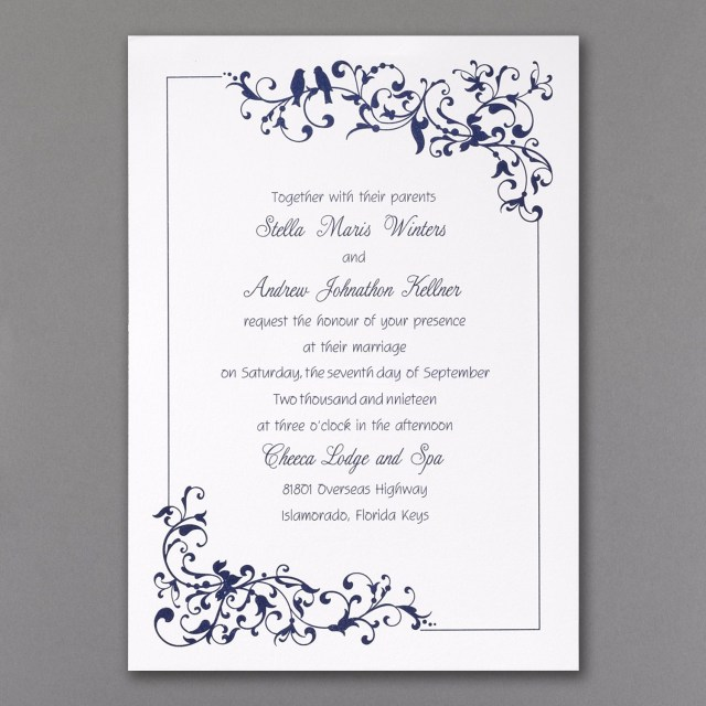 Carlson Wedding Invitations Little Love Birds Invitation White Wedding Invitations