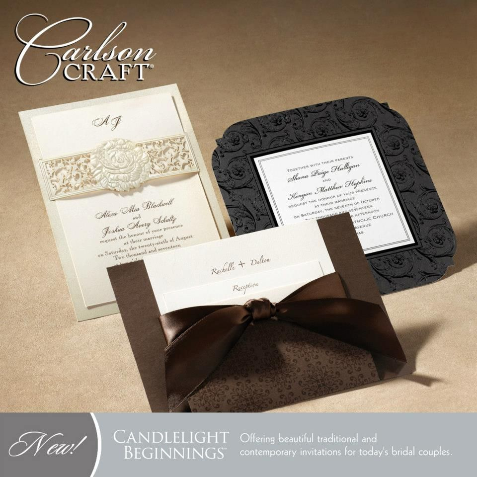 Carlson Wedding Invitations The Brand New Candlelight Beginnings Album From Carlson Craft Offers