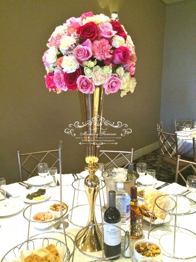 Centerpieces For Wedding New Slim Metal Flower Vase Trumpet Vases Centerpieces For Wedding
