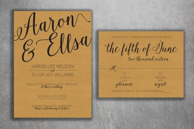 Cheap Wedding Invitation Kits Country Wedding Invitations Kit Printed With Rsvp Cheap Wedding