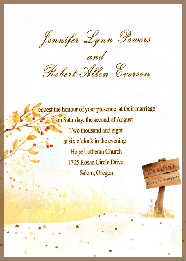 Cheap Wedding Invitation Kits Printable Wedding Invitation Kits Country Side Style Gold Rustic