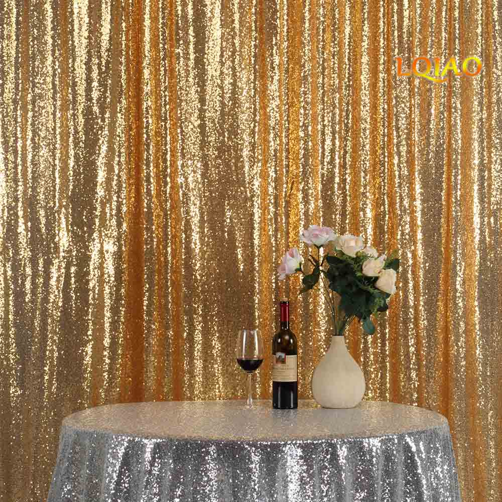 Christmas Wedding Decor Us 1992 5 Offperfectly 10ftx10ft Glitter Gold Sequin Fabric Background Photobooth Backdrop Gold Wedding Curtain For Christmaswedding Decor In