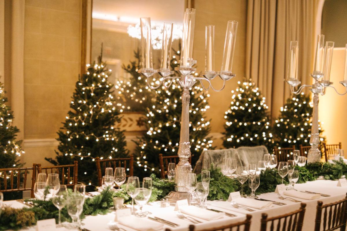 Christmas Wedding Decor Winter Wedding Decor Bride Blossom Nycs Only Luxury Wedding